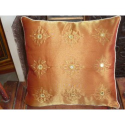 Cushion cover 40X40 arabesques miroirs or
