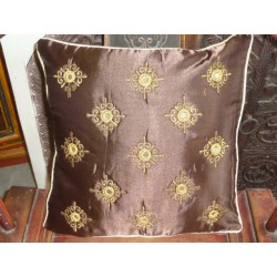 Cushion cover 40X40 arabesques miroirs chocolat