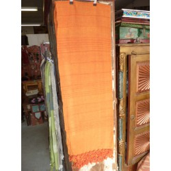 small kerala green orange vif ficelle 150x220 cm