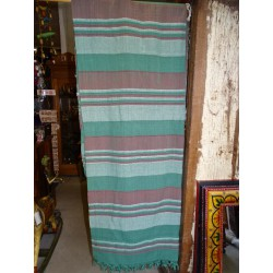 Bedspread kerala dark plum and green