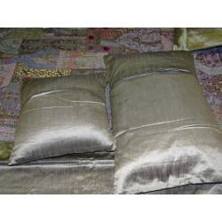 Organza cortinas de gris
