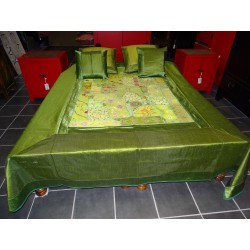 groen bed set met patchwork - 2