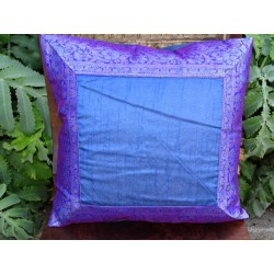 cushion cover 40x40 Blue border brocade