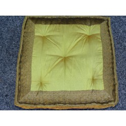 Cushion Floor Blumen Golden