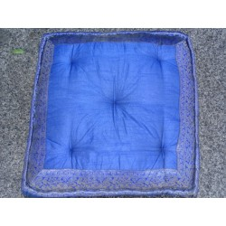 Cushion Floor Blumen Blau