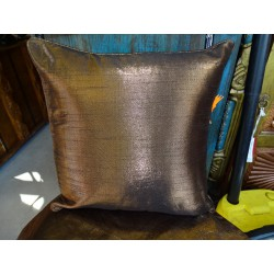Cushion Cover Metallic 40x40 cm moka