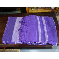 top de cama kerala india en jeans y color morado