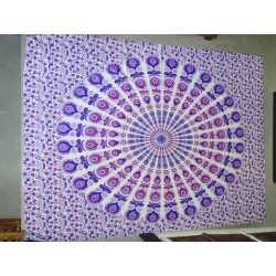 Cotton wall hanging with stained glass and cashmeer purple color