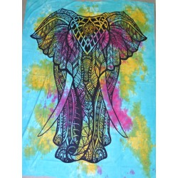 Cotton wall hanging with red elephant ceremony