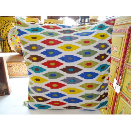 Pillow cover 60X60 cm printed IKAT multicolored