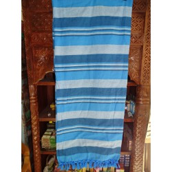 KERALA Indian bed cover in turquoise color