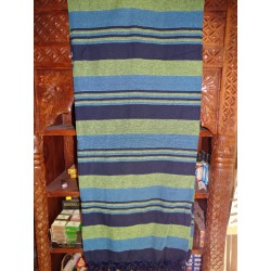 KERALA Indian bedspread in ultramarine blue and turquoise