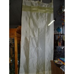 Taffeta curtains with ecru brocade edges in 250 x 110 cm