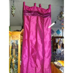 Taffeta curtains brocade edges dark fuchsia color 250 x 110 cm