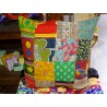 PATCHWORK 40x40 cm covers in multicolored cotton