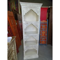 Turquoise column bookcase with 4 arches 180 cm high