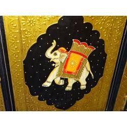 Boutons en porcelaine poix bleu ciel
