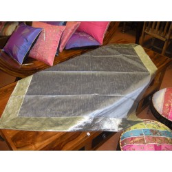 Taft Brokat Tischdecken 110x110 cm grau