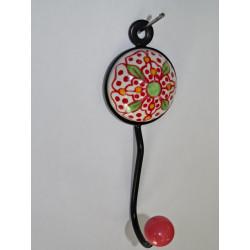 Cubierta follaje bordado rosa 40x40 cm