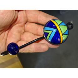 Cover orange foliage embroidered 40x40 cm