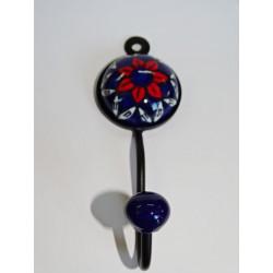 Decken große orange Blume Brokat 40x40 cm