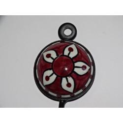 Decken große Blume Goldbrokat 40x40 cm