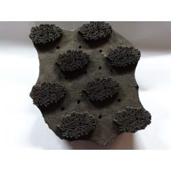Tischdecken 150x150 cm kleine Burgund Blumen