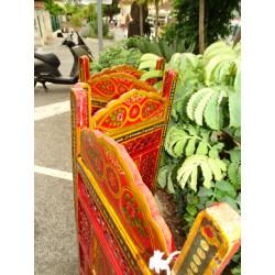 Borgoña cortinas de organza olas