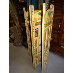 Cortinas Madras verde / rosa