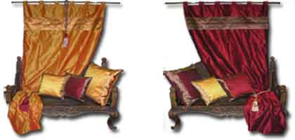 brocade curtains