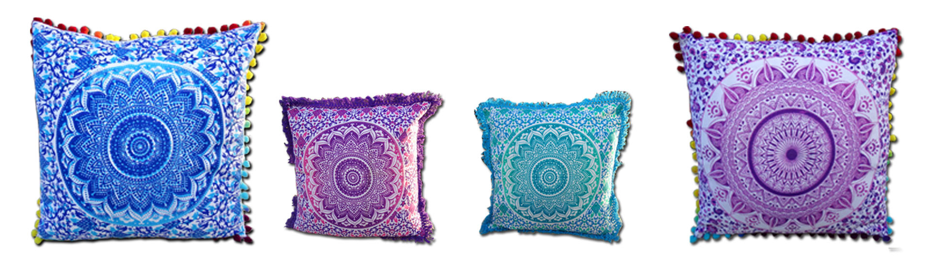 ponpons and fringes cushions